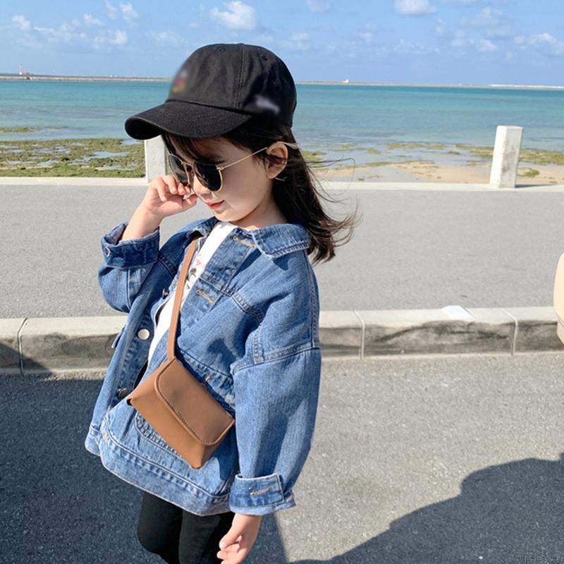 【Superseller】Kids Baby Girl Denim Jacket Casual Zipper Sweatshirt Coat Outfits Tops 2-7 Years Old