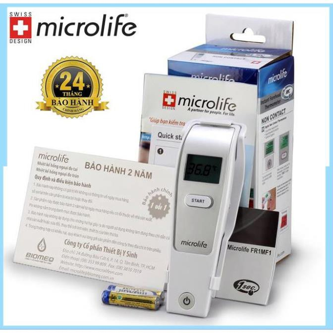 [HÀNG THỤY SĨ] Nhiệt kế hồng ngoại đo trán Microlife FR1MF1