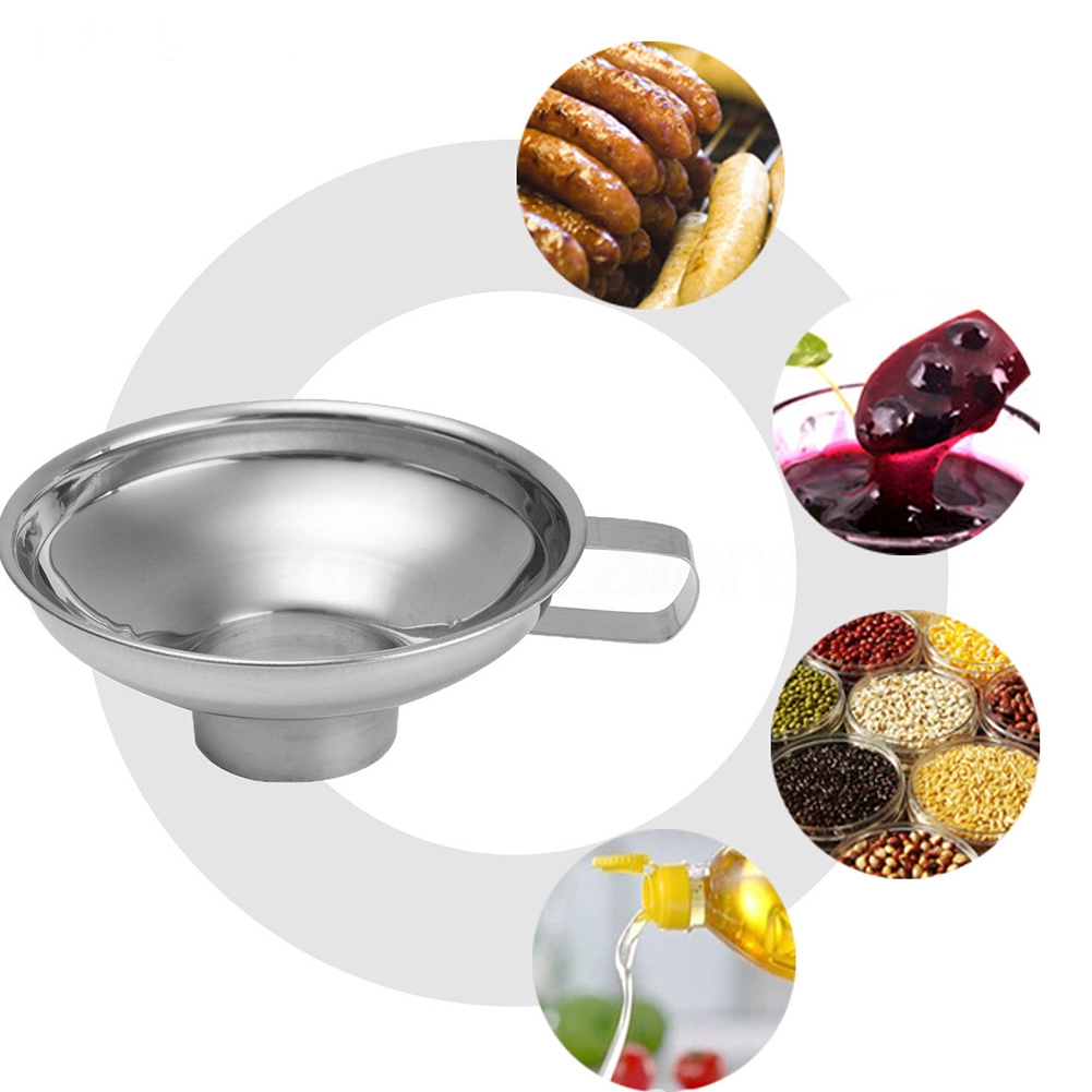 Kitchen Stainless Steel Wide Neck Craft Tool Thick Jam Making Preserve Funnel