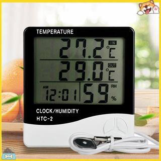 Set máy đo nhiệt độ độ ẩm kỹ thuật số có màn hình LCD và phụ kiện