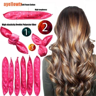 【ayellowtr】Flexible Foam Hair Curlers No Heat Curlers Rollers Spiral DIY Styling Tools
