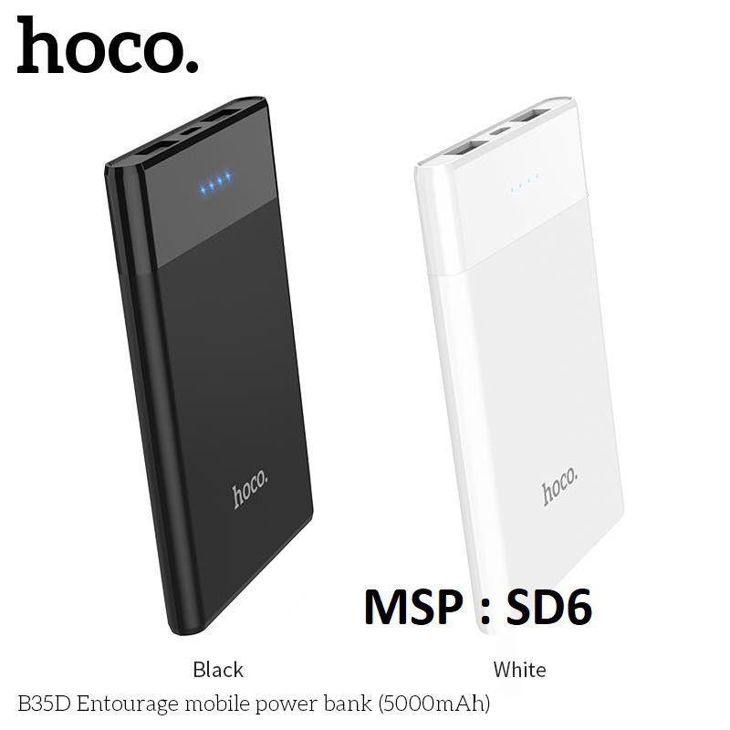 Pin Sạc Dự Phòng Mini 5000 mAh ✓ Tương Thích Iphone Anroid Ipod ✓ Chính Hãng HOCO B35D