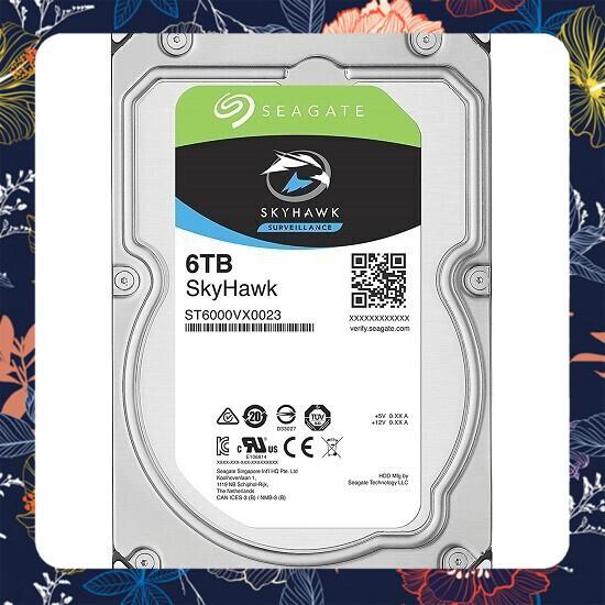 [Giá rẻ] Ổ Cứng HDD Seagate SkyHawk 6TB/128MB/3.5 – ST6000VX0023 dung lượng 6000GB. Giá chỉ 7.500.000₫