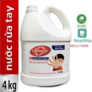 Nước Rửa Tay LIFEBUOY 4kg Diệt Khuẩn 99% Bảo Vệ Vượt Trội Can nhựa lớn Big size 4 kg 4 kí thumbnail