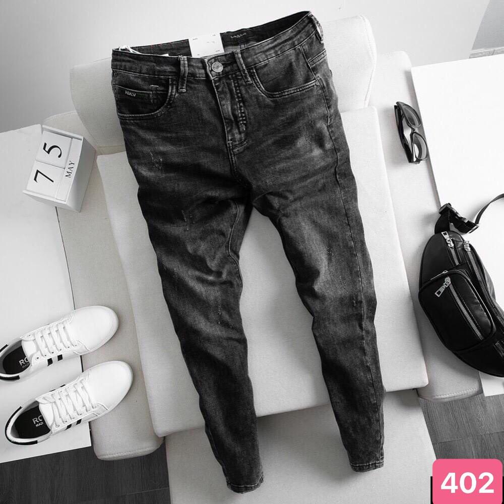 Quần jean nam đen chất bò cao cấp co dãn 4 chiều 99AD NHIỀU MẪU HOT