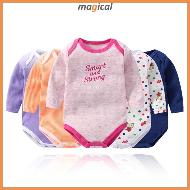 Set áo liền quần cotton dài tay cho bé sơ sinh