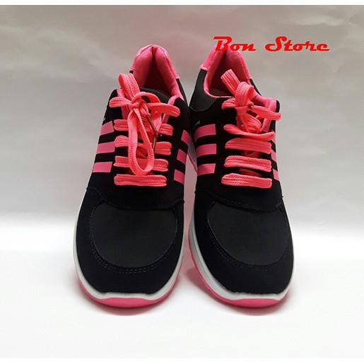 Giày nữ thể thao buộc dây năng động ( đen hồng ) - 3305973 , 470357140 , 322_470357140 , 262000 , Giay-nu-the-thao-buoc-day-nang-dong-den-hong--322_470357140 , shopee.vn , Giày nữ thể thao buộc dây năng động ( đen hồng )