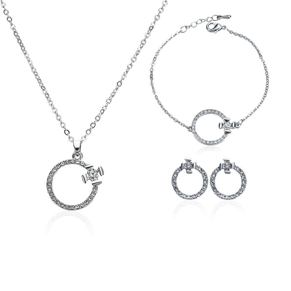 Bộ dây chuyền, lắc tay, và đôi bông tai họa tiết hình tròn đính đá kiểu dáng thời trang cho nữ - 22307467 , 1277460143 , 322_1277460143 , 142800 , Bo-day-chuyen-lac-tay-va-doi-bong-tai-hoa-tiet-hinh-tron-dinh-da-kieu-dang-thoi-trang-cho-nu-322_1277460143 , shopee.vn , Bộ dây chuyền, lắc tay, và đôi bông tai họa tiết hình tròn đính đá kiểu dáng t