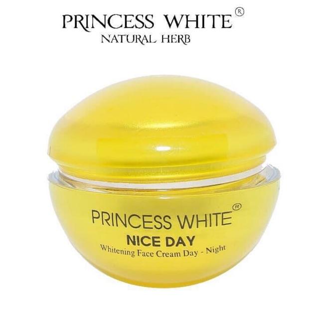 [ CHÍNH HÃNG] Kem Dưỡng Trắng Da Ngày Và Đêm Nice Day Princess White Hũ 22gr