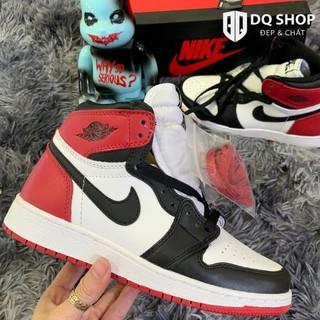 Giày thể thao air jordan 1 retro high og black toe, giày JD1 cao cổ đen trắng Full Box bill thumbnail