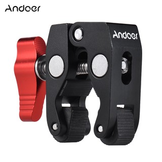 Andoer Crab Pliers Clip Super Clamp with 1/4″ & 3/8″ Screw Hole for DSLR Rig LCD Monitor Studio Ligh