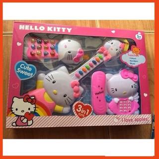 [ Giá Rẻ Nhất ] Bộ 3 nhạc cụ Kitty #1203