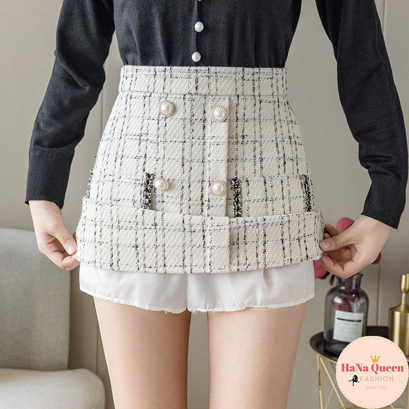 [Sẵn Hàng] Chân váy chữ A Kiểu Cách Điệu may túi giả thời trang Hàn Quốc