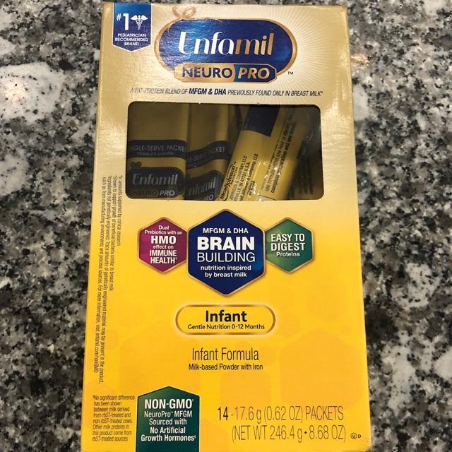 Sữa bột Enfamil Neuro Pro NON-GMO Infant Formula 260g của Mỹ