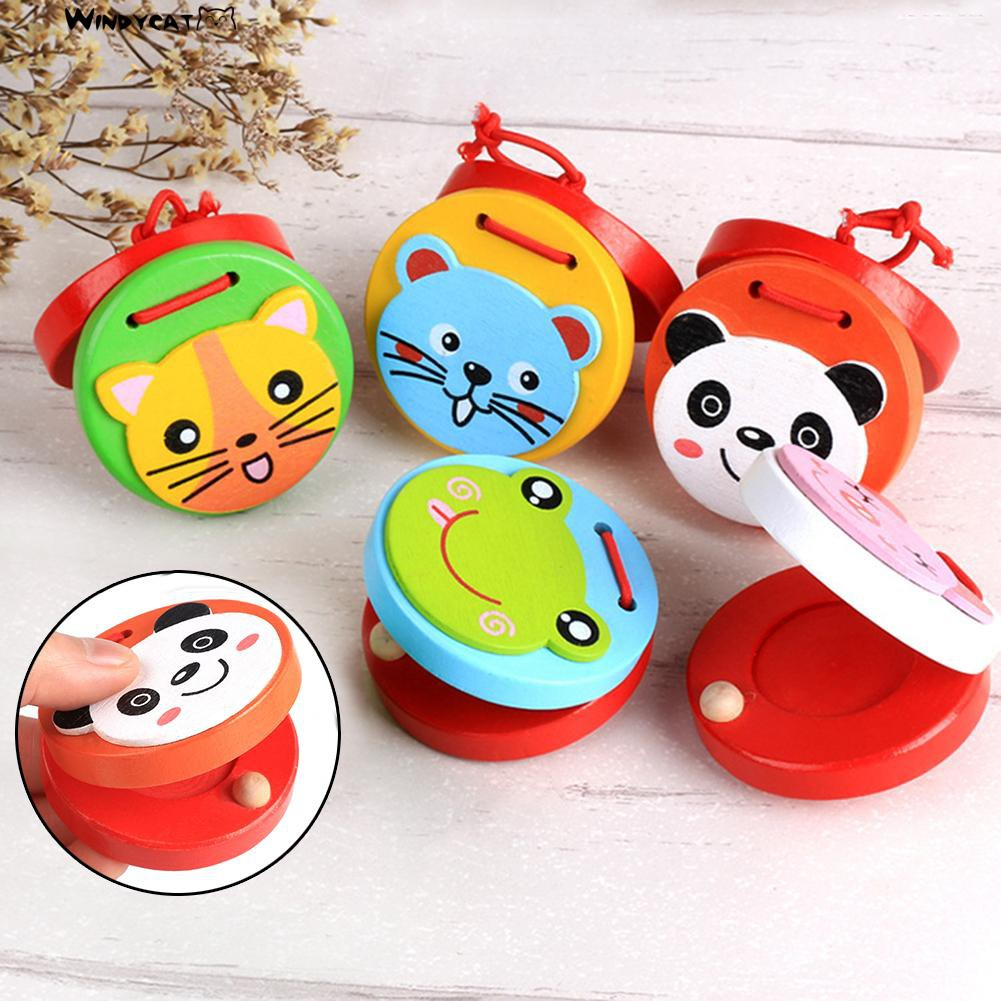 Cartoon Frog Panda Animal Kids Child al Castanets Toy Xmas