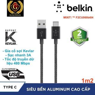 Cáp bện nylon USB-A ra USB-C Belkin MIXIT TM F2CU060bt04 3A - dài 1.2m thumbnail