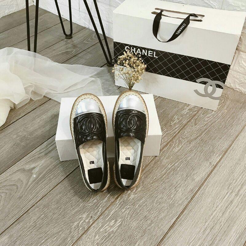 giày slip on mũi bạc giày lười cn