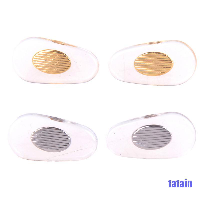 [tatain] 10 Pairs nose pads silicone screw on for glasses sunglasses spectacle nose pad NOQV