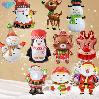 Christmas Xmas Party Santa Claus Elk Snowman Aluminum Balloon Decorative Props Festival Supply