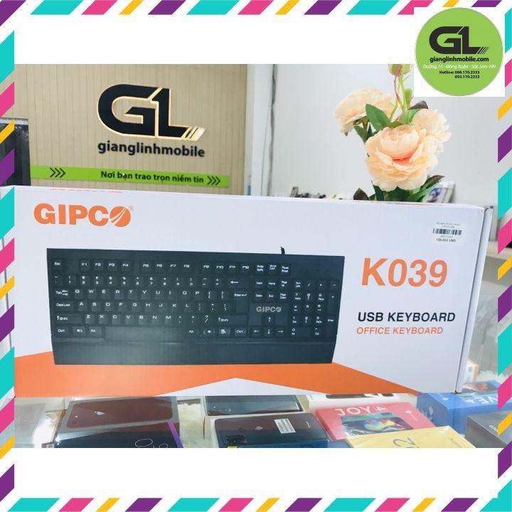 Bàn phím máy tính dây Gipco K039