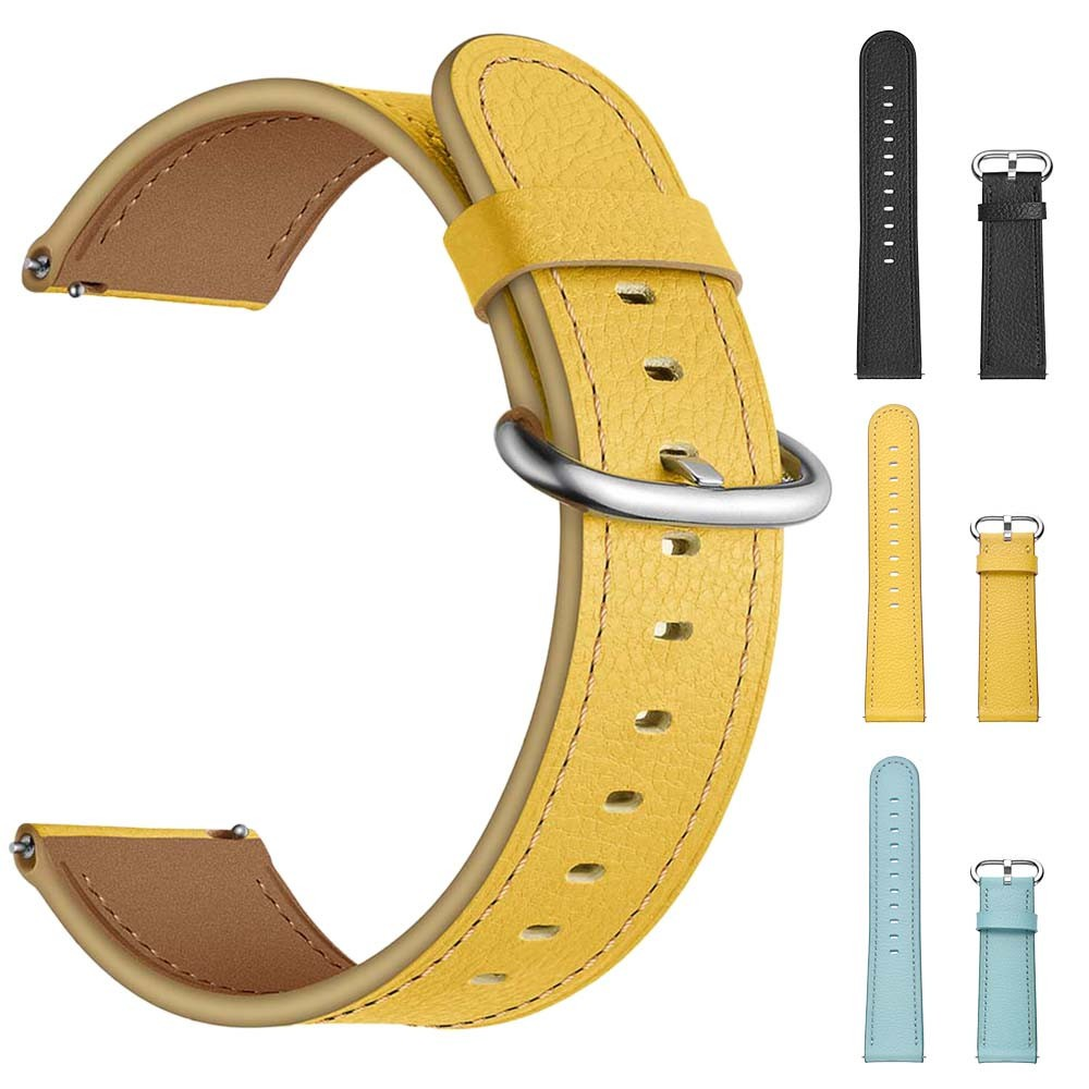 Dây đeo đồng hồ bằng da 22MM cho Samsung Galaxy Watch 46mm