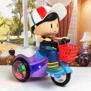 Cậu bé shipper đi xe đạp ( cam kết hàng loại 1 đẹp hơn trong hình)