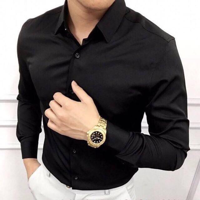 Áo sơ mi nam dài tay áo sơ mi trắng vải lụa nến không nhăn thời trang cao cấp Vocado