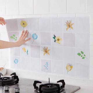 Giấy dán tường tự làm họa tiết hoa lá chống thấm nước/nhiệt cho nhà bếp tiện dụng