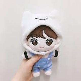 Gấu bông chibi BTS jungkook ( ko áo ) chỉ có quần cụt.