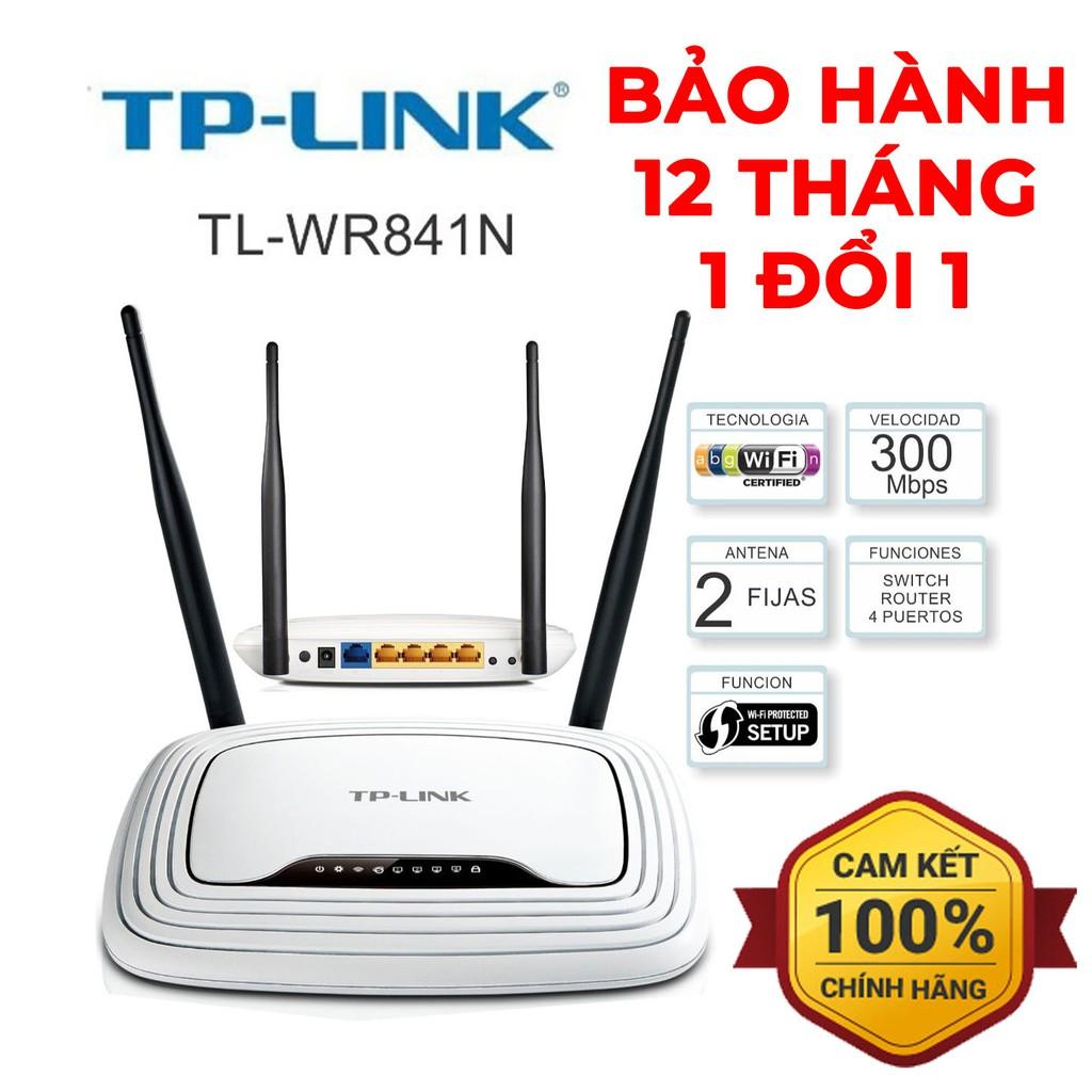 Bộ phát Wifi Router Wifi TP Link TL-WR841N (2 Râu) Tốc Độ 300Mbps - HÀNG CHÍNH HÃNG 100% - BẢO HÀNH 12 THÁNG