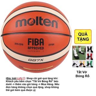[XẢ LỖ] Bóng rổ Molten FIBA GG7X size 7 da PU chơi indoor outdoor TẶNG kim bơm + túi lưới banh đẹp bền bám tay tốt nhồi thumbnail