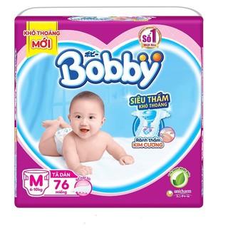 [TẶNG 8M QUẦN] Tã dán bobby M76 L68 XL62 XXL56