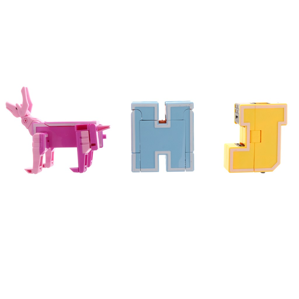 English Letters Transforming Robot Toy for Kid Children Play Display - H I J