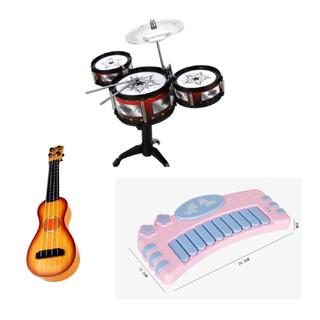 Combo 3 món đồ chơi âm nhạc – Bộ 3 trống – Đàn Ghi ta – Đàn Piano cho bé