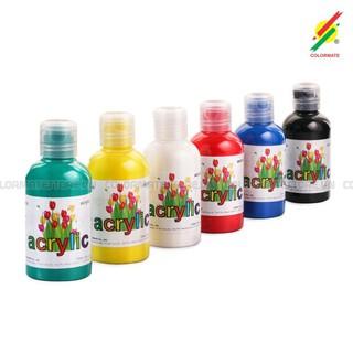 Hộp Giấy 6 Chai Màu Vẽ Acrylic 120ml ACRYLIC-6B