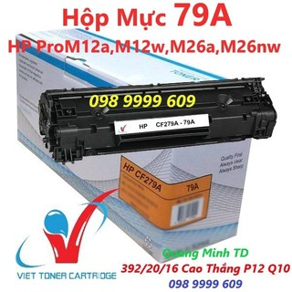 Hộp Mực 79A – HP Pro M12a, M12w, M26a, M26nw – Cartridge CF279A [Full Box]