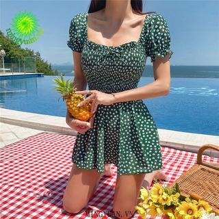 [mingyuan] 2020 new one-piece flower sleeve puff pleated half sleeve Traditional Korean dress said thumbnail