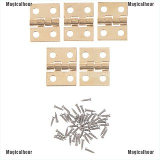 Magicalhour♥1:12 Dollhouse Miniature Fitment Material Metal Hinges And Screws For Mini Door