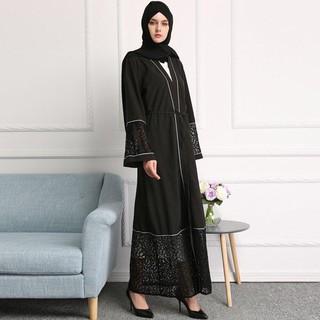 Đầm Dài Phối Ren Cho Phụ Nữ Hồi Giáo