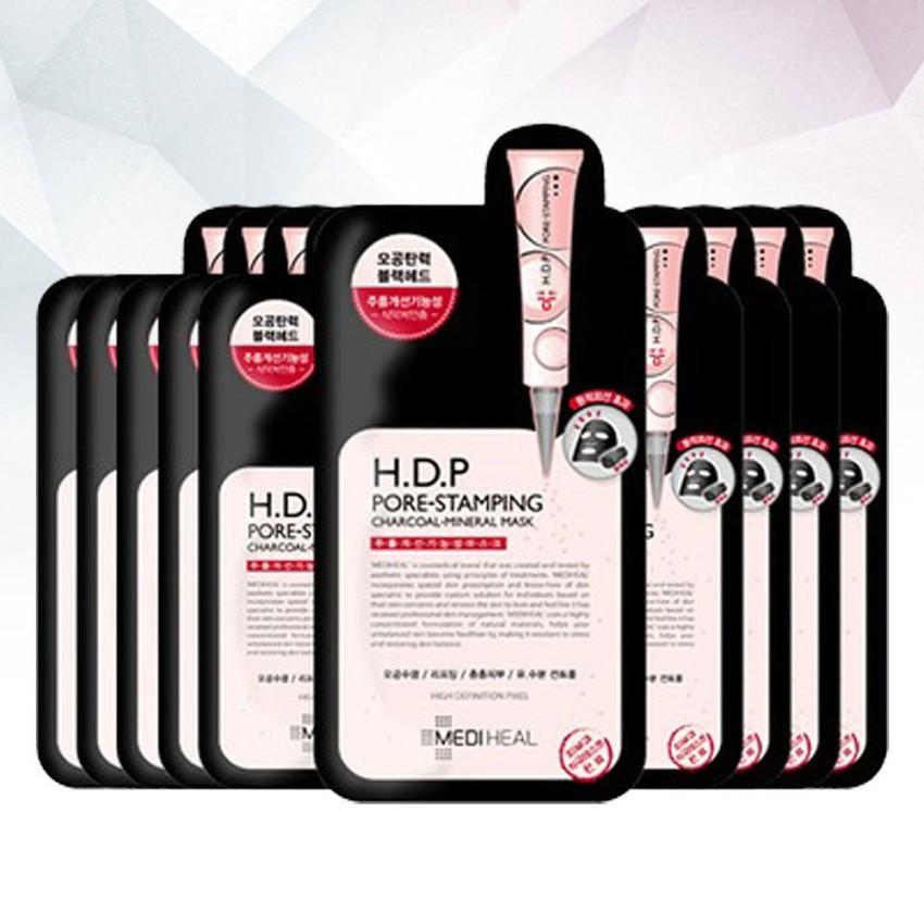 [PP chính thức Mediheal] Bộ 10 Mặt Nạ Than Hoạt Tính se khít chân lông Mediheal H.D.P PoreStamping C
