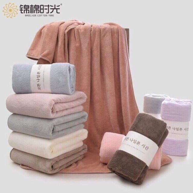 Khăn tắm xuất Hàn, khăn lông cừu size 70x140cm (video thật)