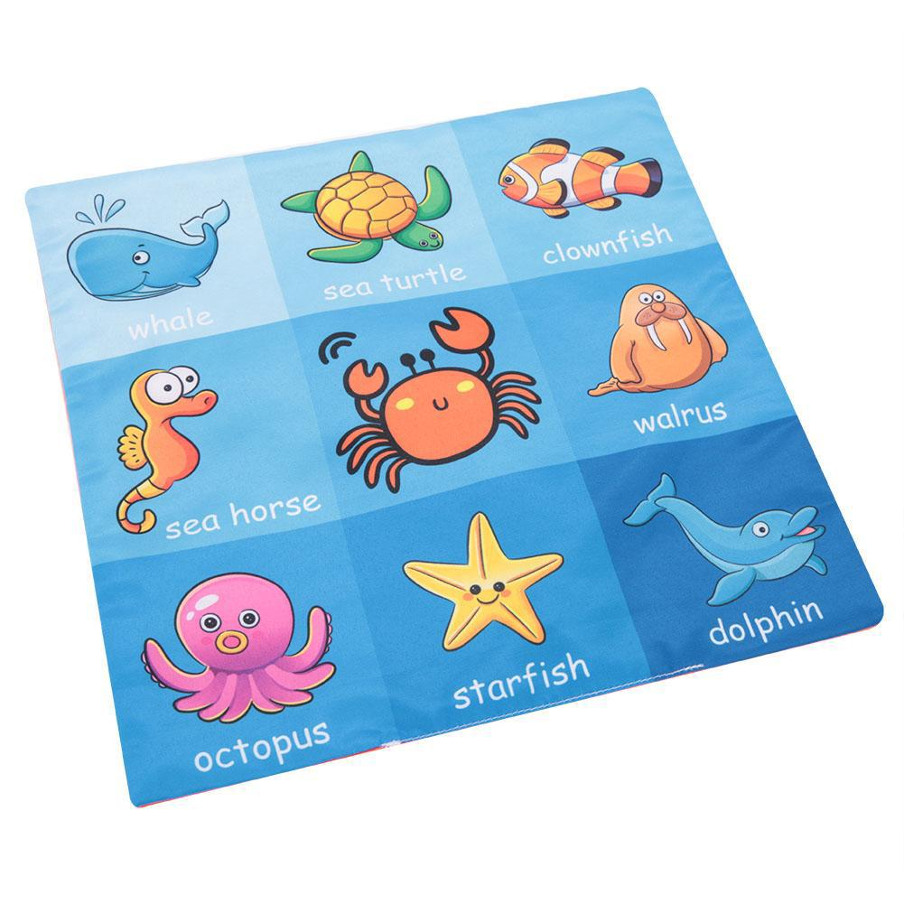 Baby Bath Book Tear Proof Infant Shower Toy Early Education Toys for Bath Time