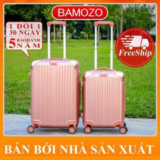 vali kéo du lịch size 20 inch size 24 inch vali nhựa BAMOZO 8801/8809