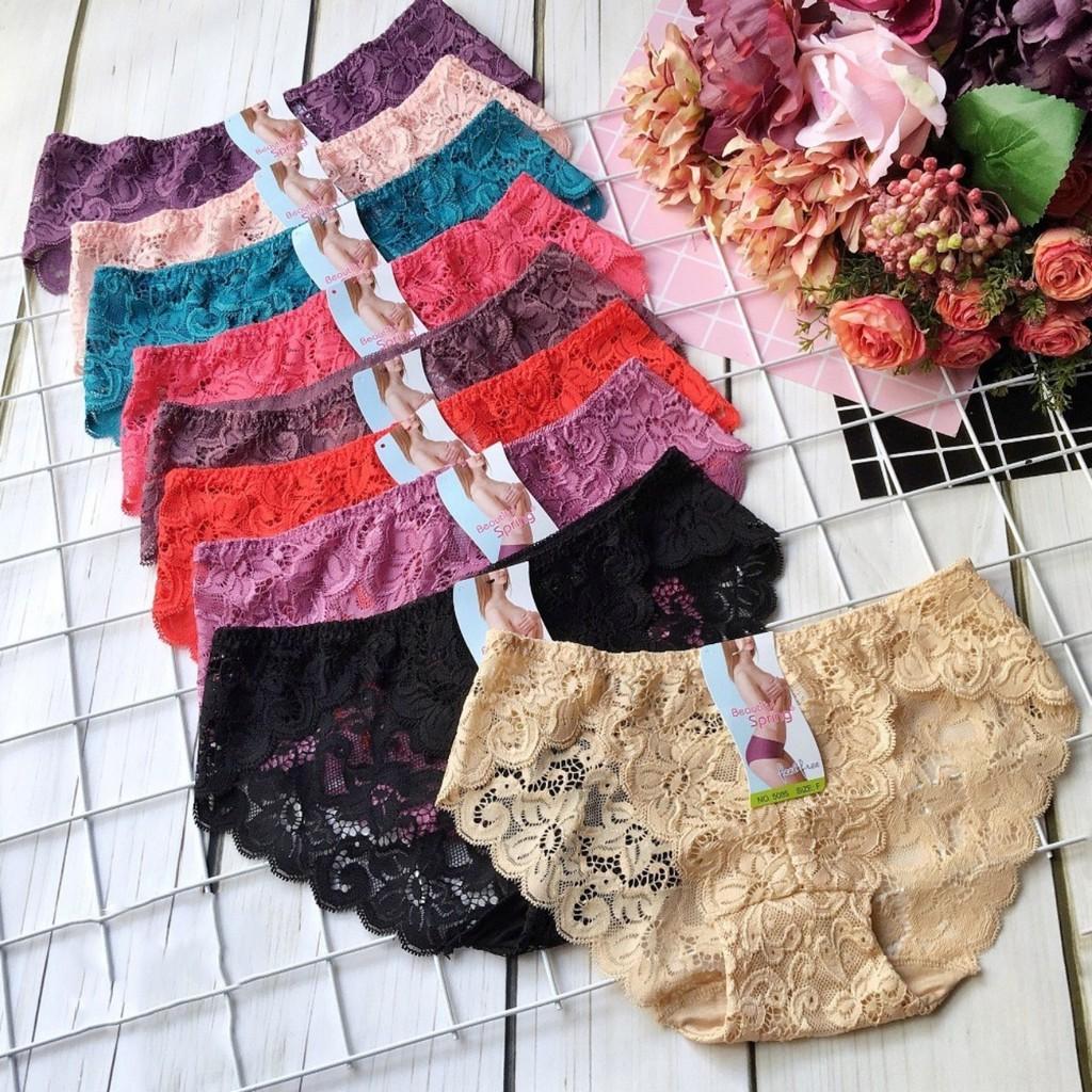 Bộ 10 quần lót ren nổi sần N095