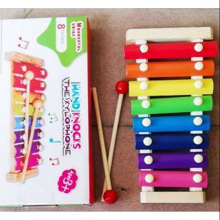 Đàn gỗ 8 thanh nhận biết âm thanh cho bé vui chơi
