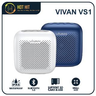 Loa Bluetooth 5.0 VIVAN True Wireless VS1 Chống Nước IPX5 Công Suất 5W 1800mAh Playtime Đến 8H Hỗ Trợ Thẻ Nhớ & USB