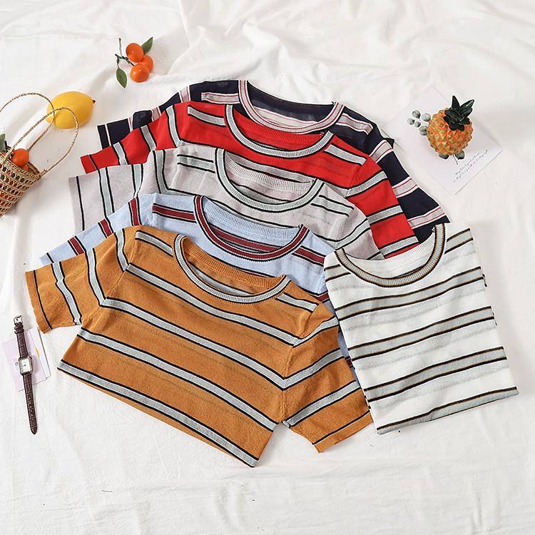áo thun sọc tay ngắn thời trang dành cho nữ - 14433473 , 2366787111 , 322_2366787111 , 126800 , ao-thun-soc-tay-ngan-thoi-trang-danh-cho-nu-322_2366787111 , shopee.vn , áo thun sọc tay ngắn thời trang dành cho nữ