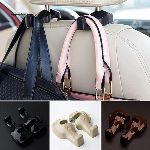 OPHE_2Pcs Car Seat Back Headrest Luggage Bags Hanger Multifunction Hooks Holders