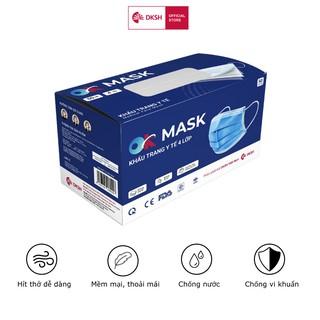 Hộp Khẩu Trang Y Tế Cao Cấp Ok Mask 4 Lớp, Đạt Chuẩn Kháng Khuẩn, Chất Liệu Mềm Mại thumbnail