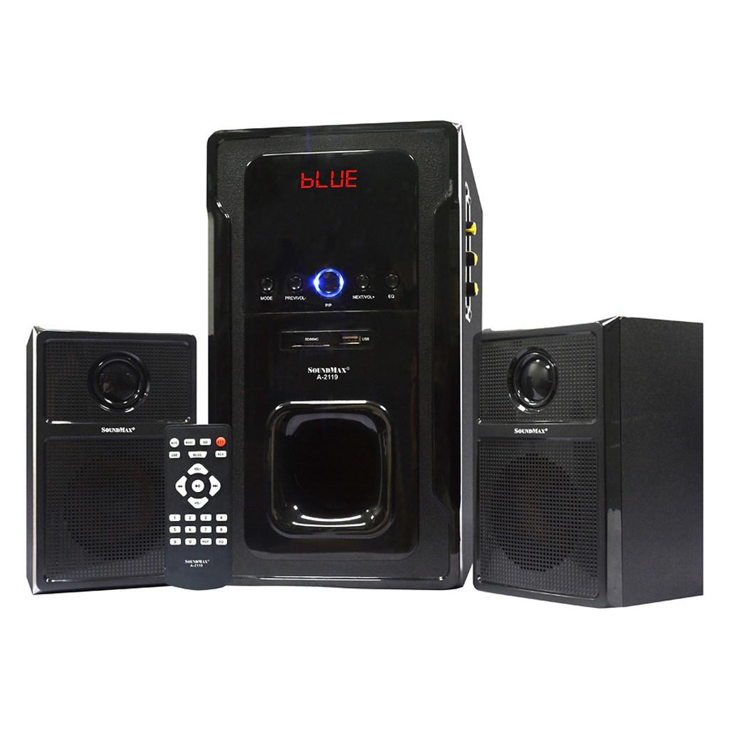 [Mã ELMS4 giảm 7% đơn 500K] Loa Vi Tính Soundmax A-2119/2.1 Tích Hợp Bluetooth 4.0 (60W) - Hàng Chính Hãng